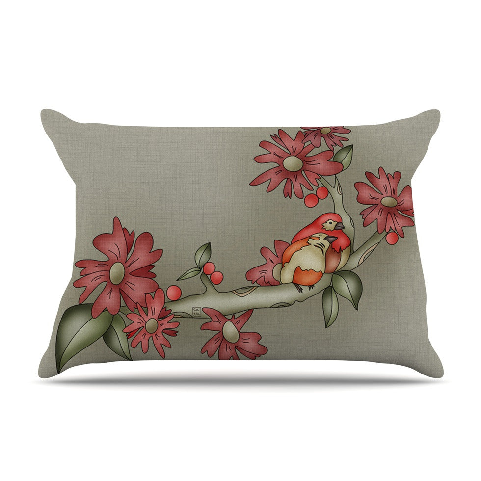 "Carina Povarchik ""Feng Shui"" Red Brown Pillow Sham - KESS InHouse"