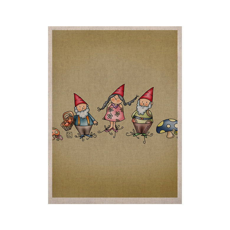 "Carina Povarchik ""Gnomes"" Brown Multicolor KESS Naturals Canvas (Frame not Included) - KESS InHouse  - 1"