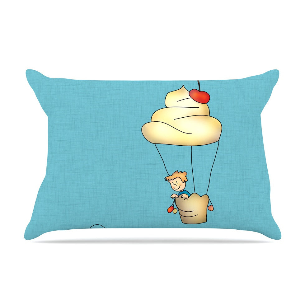 "Carina Povarchik ""Sweet World"" Blue Pillow Sham - KESS InHouse"