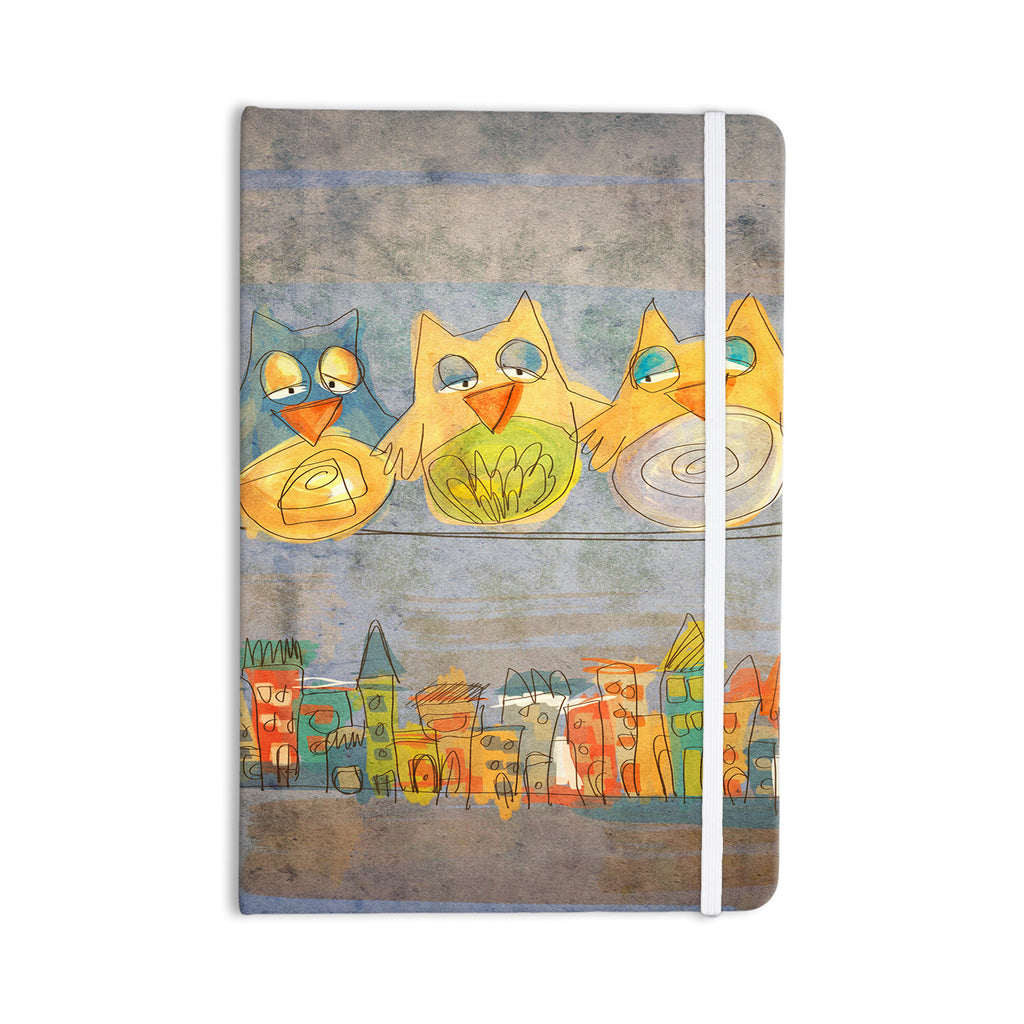 "Carina Povarchik ""Lechuzas"" Gray Multicolor Everything Notebook - KESS InHouse  - 1"