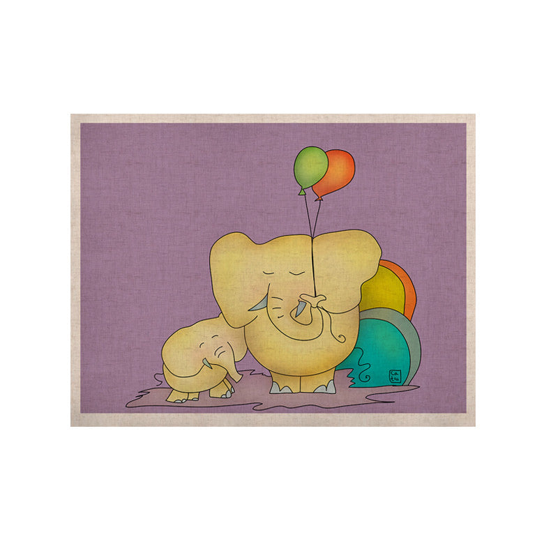 "Carina Povarchik ""Party Time"" Purple Yellow KESS Naturals Canvas (Frame not Included) - KESS InHouse  - 1"