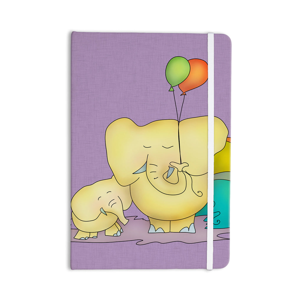 "Carina Povarchik ""Party Time"" Purple Yellow Everything Notebook - KESS InHouse  - 1"