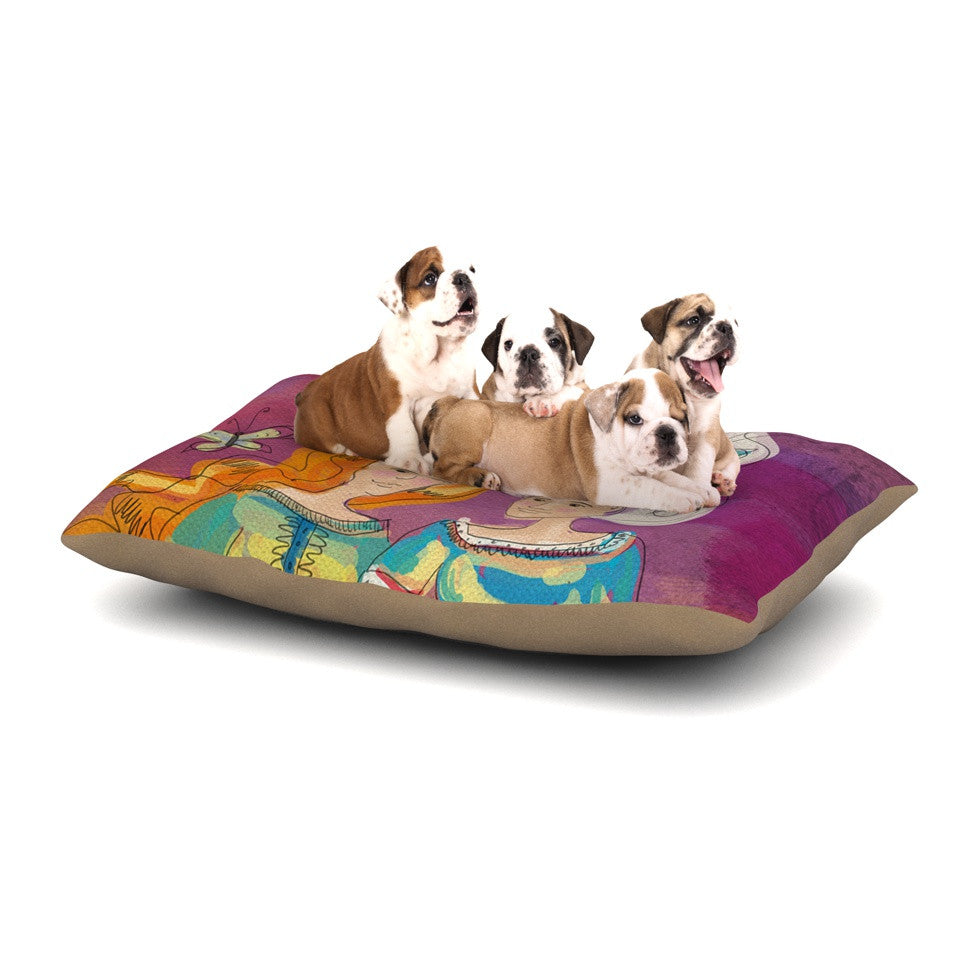 "Carina Povarchik ""Amigas"" Purple People Dog Bed - KESS InHouse  - 1"