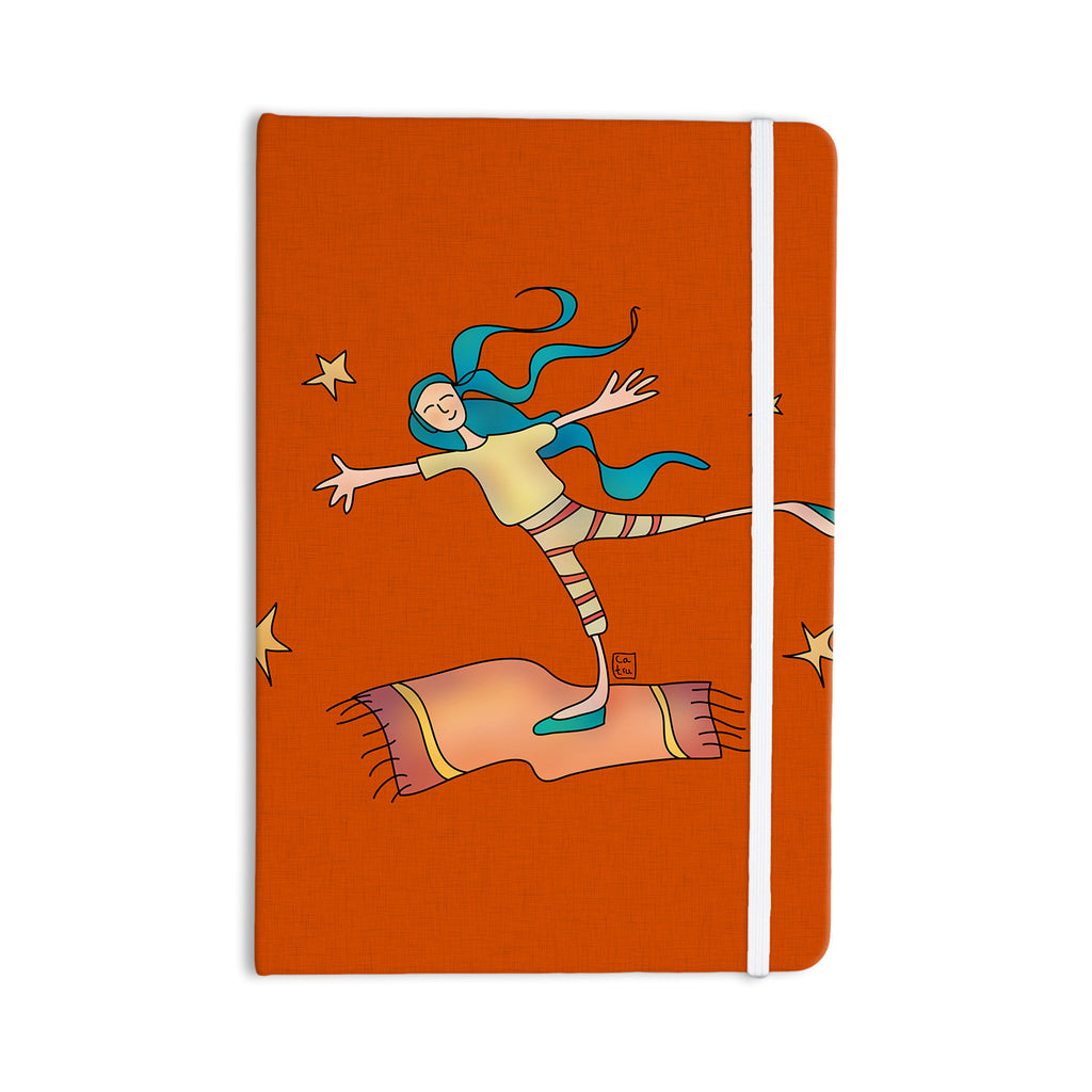 "Carina Povarchik ""Being Free"" Red Everything Notebook - KESS InHouse  - 1"