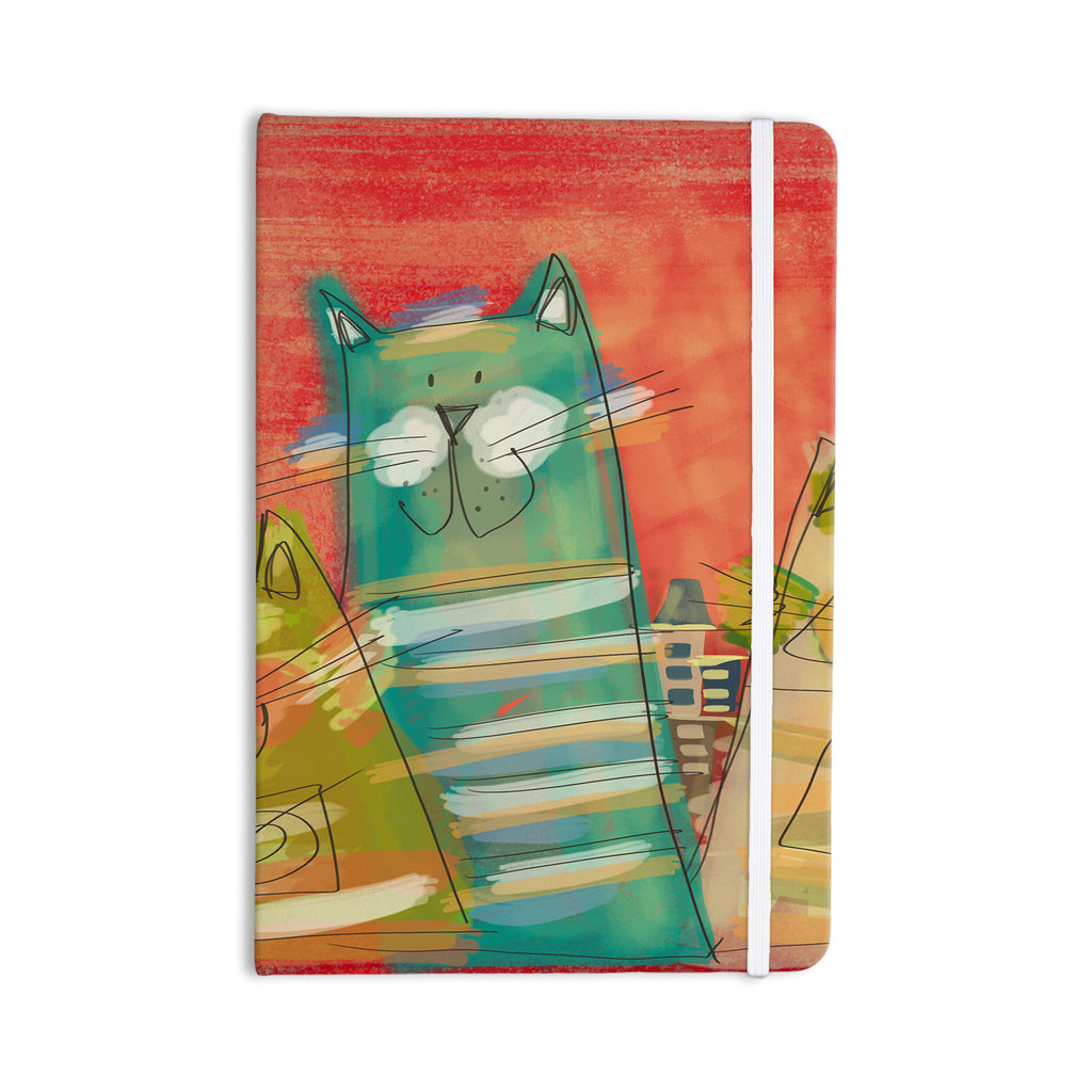 "Carina Povarchik ""Gatos"" Cat Orange Everything Notebook - KESS InHouse  - 1"