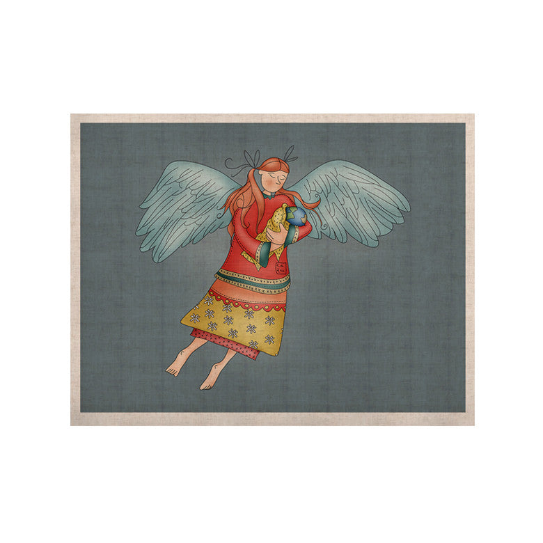 "Carina Povarchik ""Guardian Angel"" Blue Multicolor KESS Naturals Canvas (Frame not Included) - KESS InHouse  - 1"