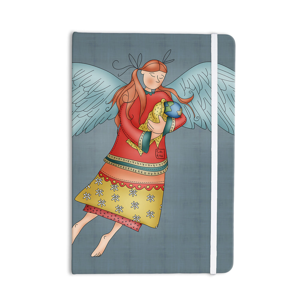 "Carina Povarchik ""Guardian Angel"" Blue Multicolor Everything Notebook - KESS InHouse  - 1"