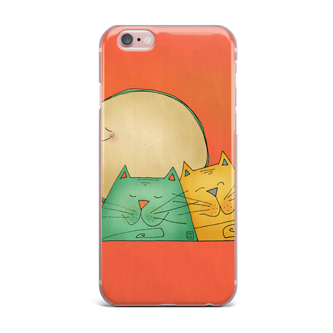 "Carina Povarchik ""2 Gatos Romance"" Love Cats iPhone Case - Outlet Item - KESS InHouse"