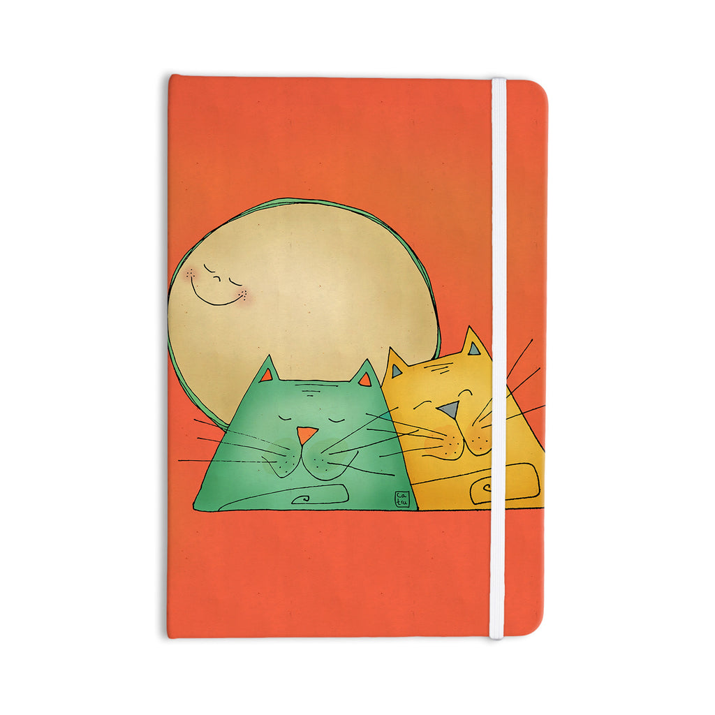 "Carina Povarchik ""2 Gatos Romance"" Love Cats Everything Notebook - KESS InHouse  - 1"