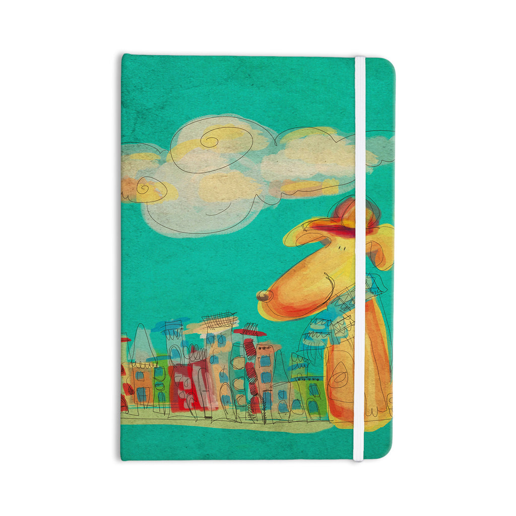 "Carina Povarchik ""Perrito"" Teal Dog Everything Notebook - KESS InHouse  - 1"