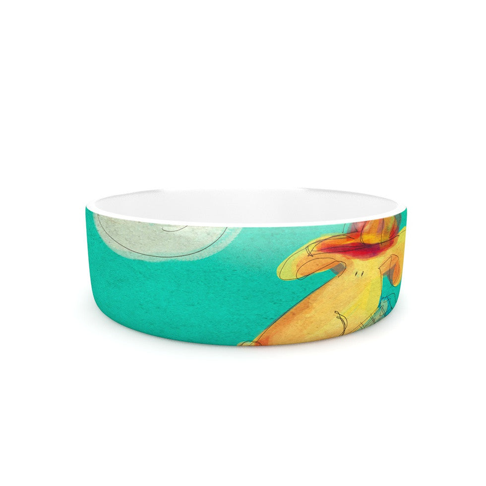 "Carina Povarchik ""Perrito"" Teal Dog Pet Bowl - KESS InHouse"