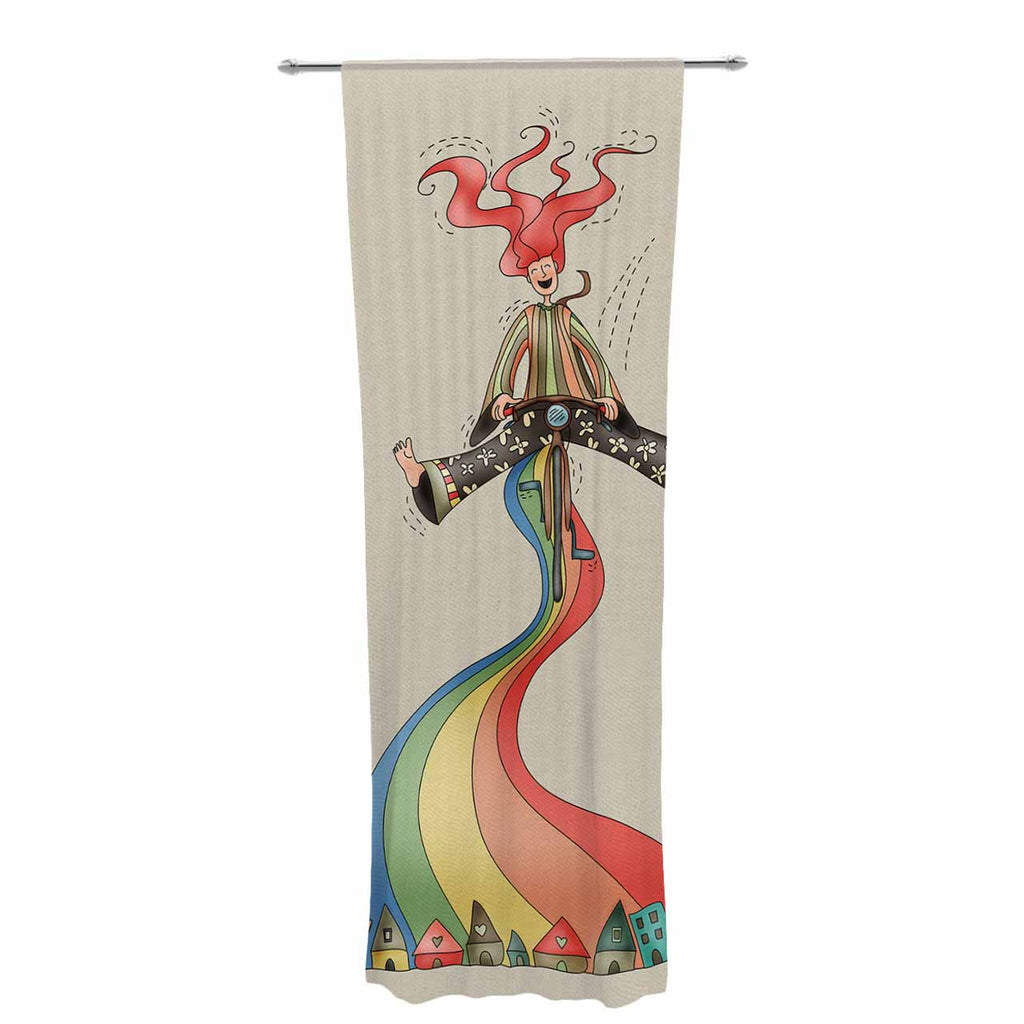 "Carina Povarchik ""Weeeee"" Fantasy Illustration Decorative Sheer Curtain - KESS InHouse  - 1"