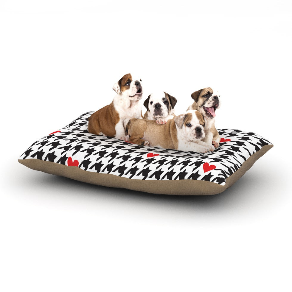 "Empire Ruhl ""Spacey Houndstooth Heart"" Dog Bed - KESS InHouse  - 1"