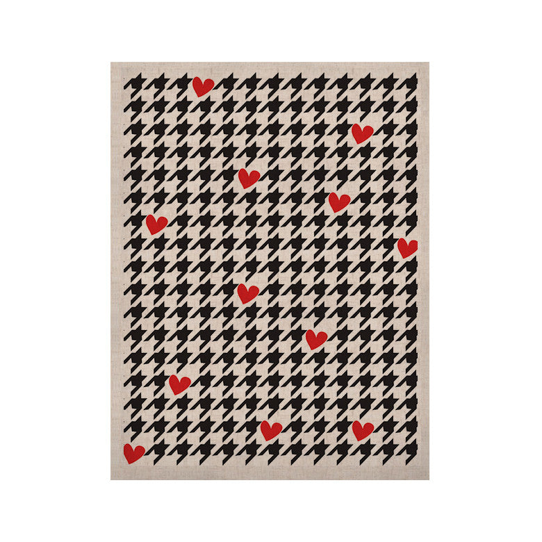 "Empire Ruhl ""Spacey Houndstooth Heart"" KESS Naturals Canvas (Frame not Included) - KESS InHouse  - 1"
