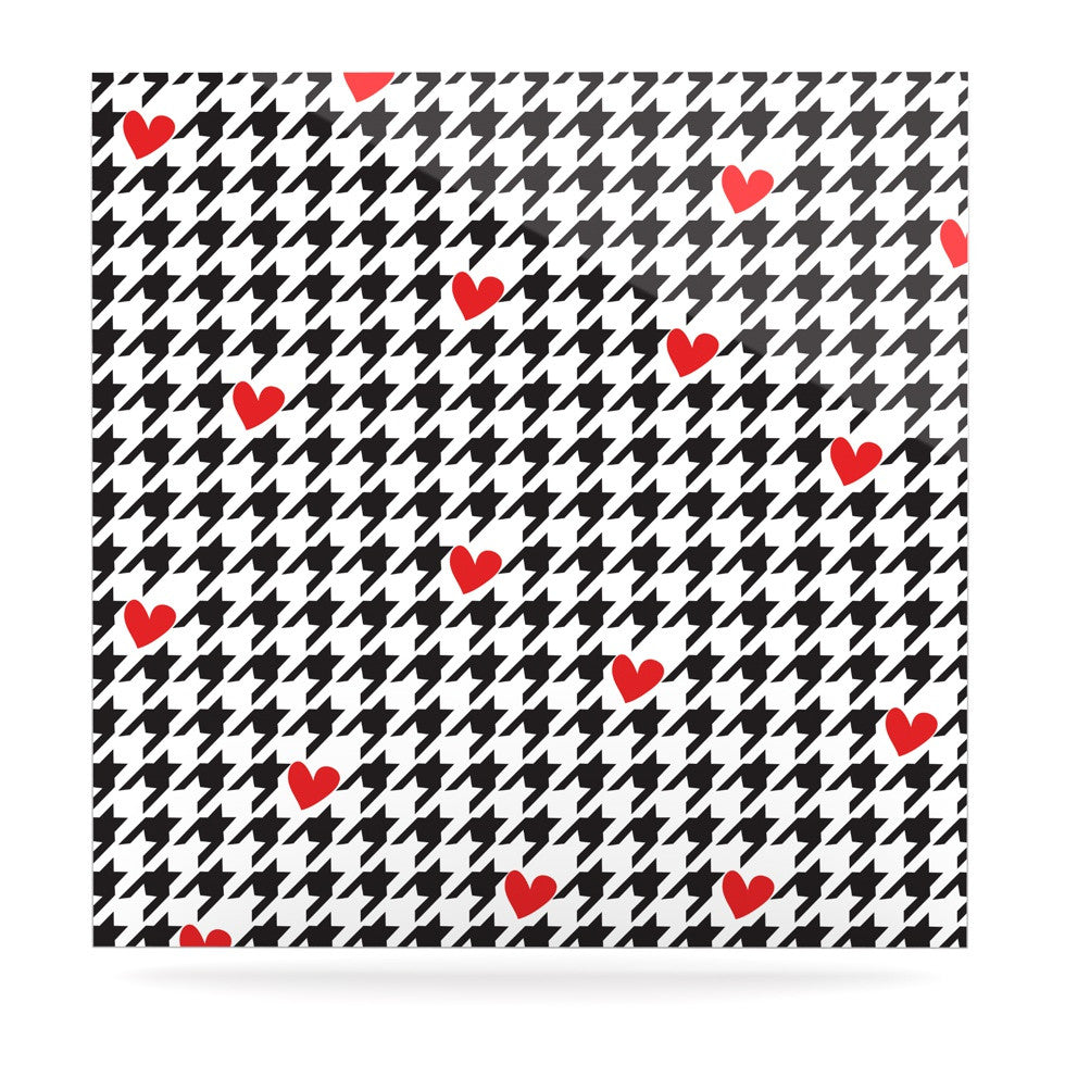"Empire Ruhl ""Spacey Houndstooth Heart"" Luxe Square Panel - KESS InHouse  - 1"