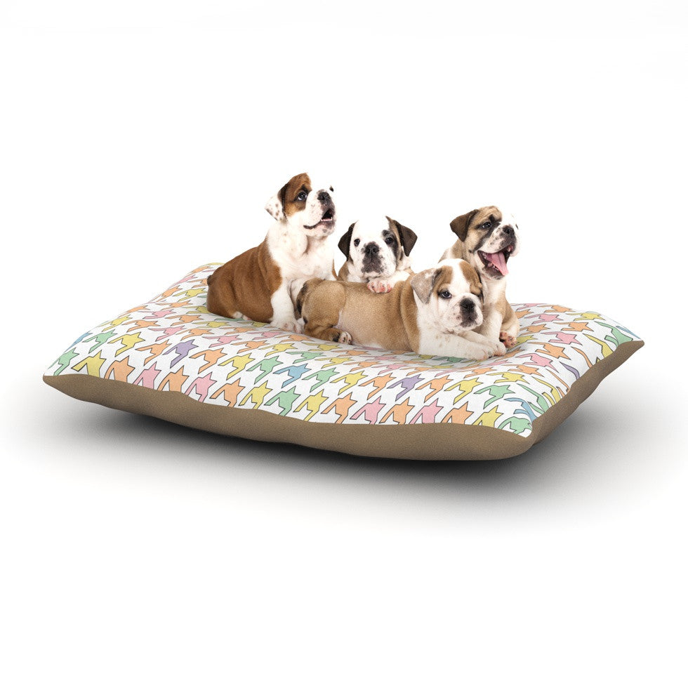 "Empire Ruhl ""Pastel Houndstooth"" Dog Bed - KESS InHouse  - 1"