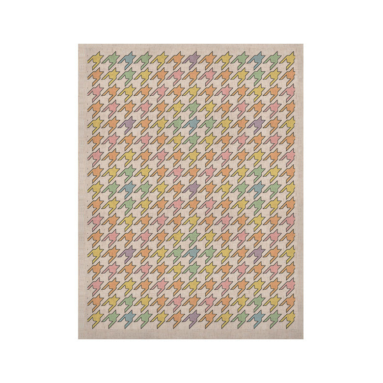 "Empire Ruhl ""Pastel Houndstooth"" KESS Naturals Canvas (Frame not Included) - KESS InHouse  - 1"