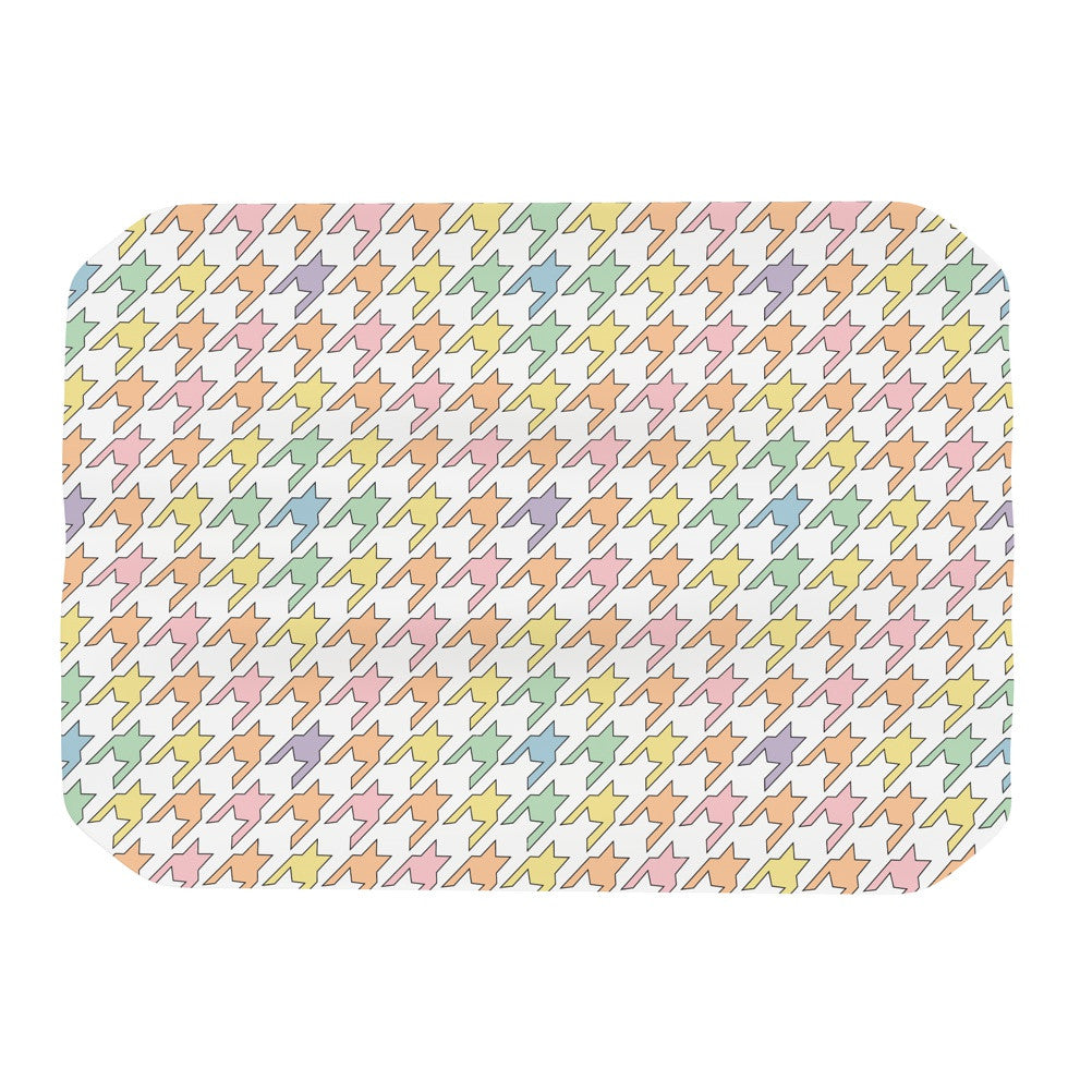 "Empire Ruhl ""Pastel Houndstooth"" Place Mat - KESS InHouse"