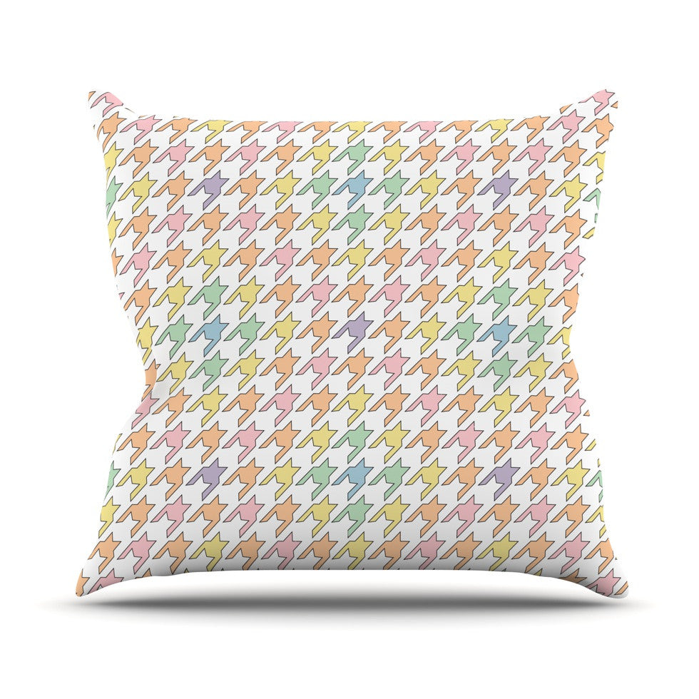 "Empire Ruhl ""Pastel Houndstooth"" Throw Pillow - KESS InHouse  - 1"