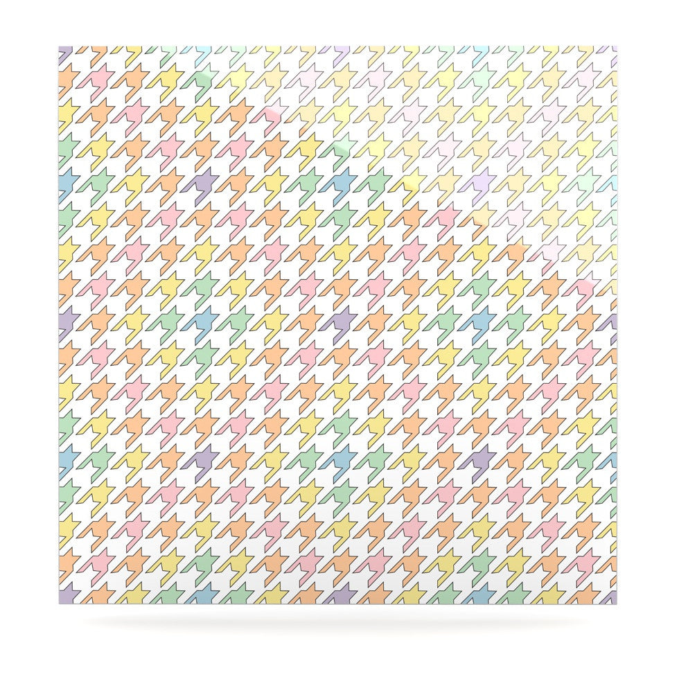 "Empire Ruhl ""Pastel Houndstooth"" Luxe Square Panel - KESS InHouse  - 1"