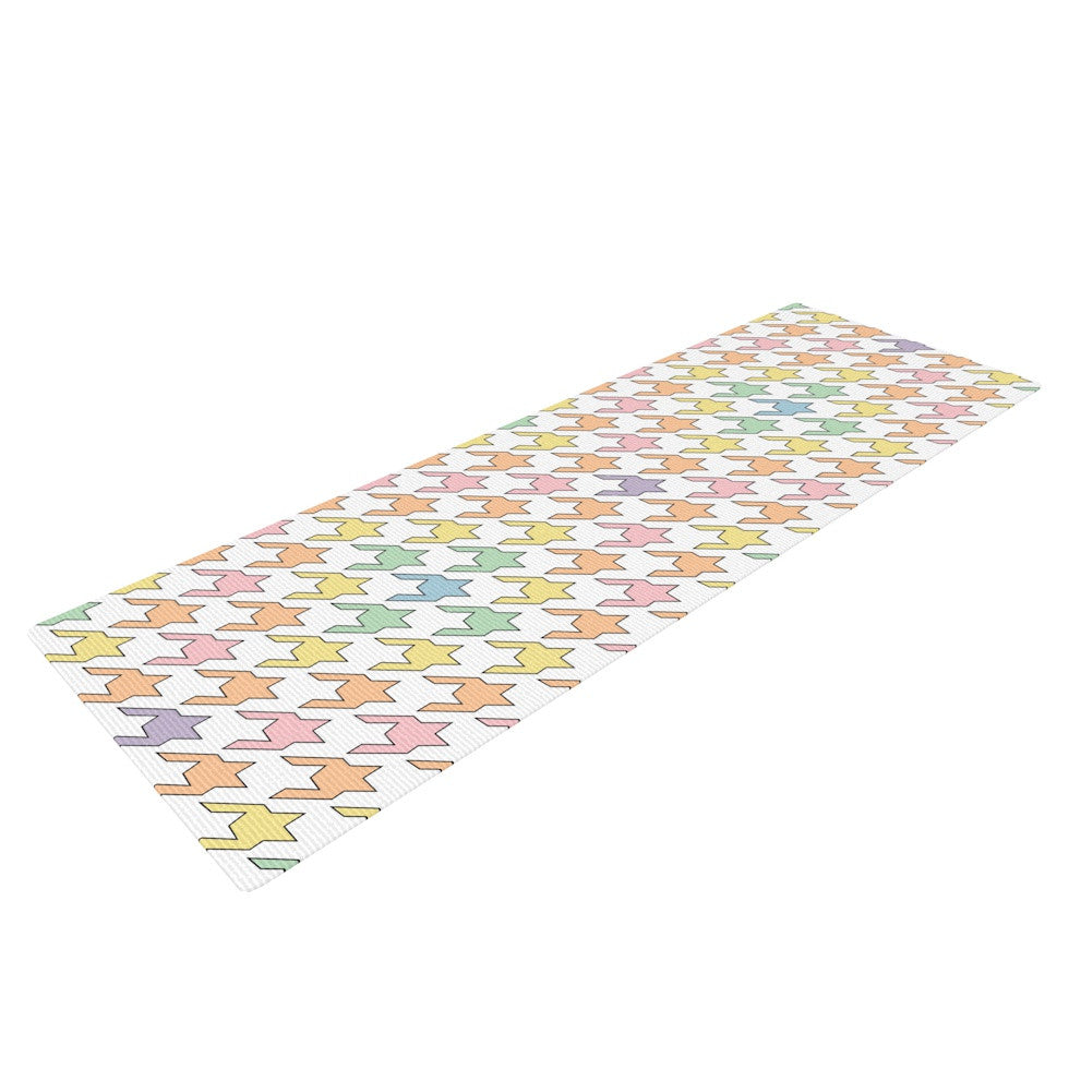 "Empire Ruhl ""Pastel Houndstooth"" Yoga Mat - KESS InHouse  - 1"