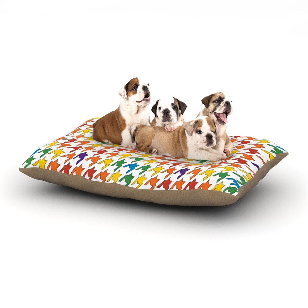 "Empire Ruhl ""Rainbow Houndstooth"" Dog Bed - KESS InHouse  - 1"