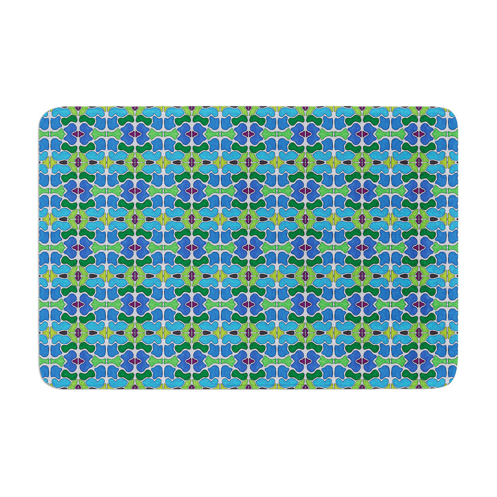 "Empire Ruhl ""Sea Glass"" Memory Foam Bath Mat - KESS InHouse"