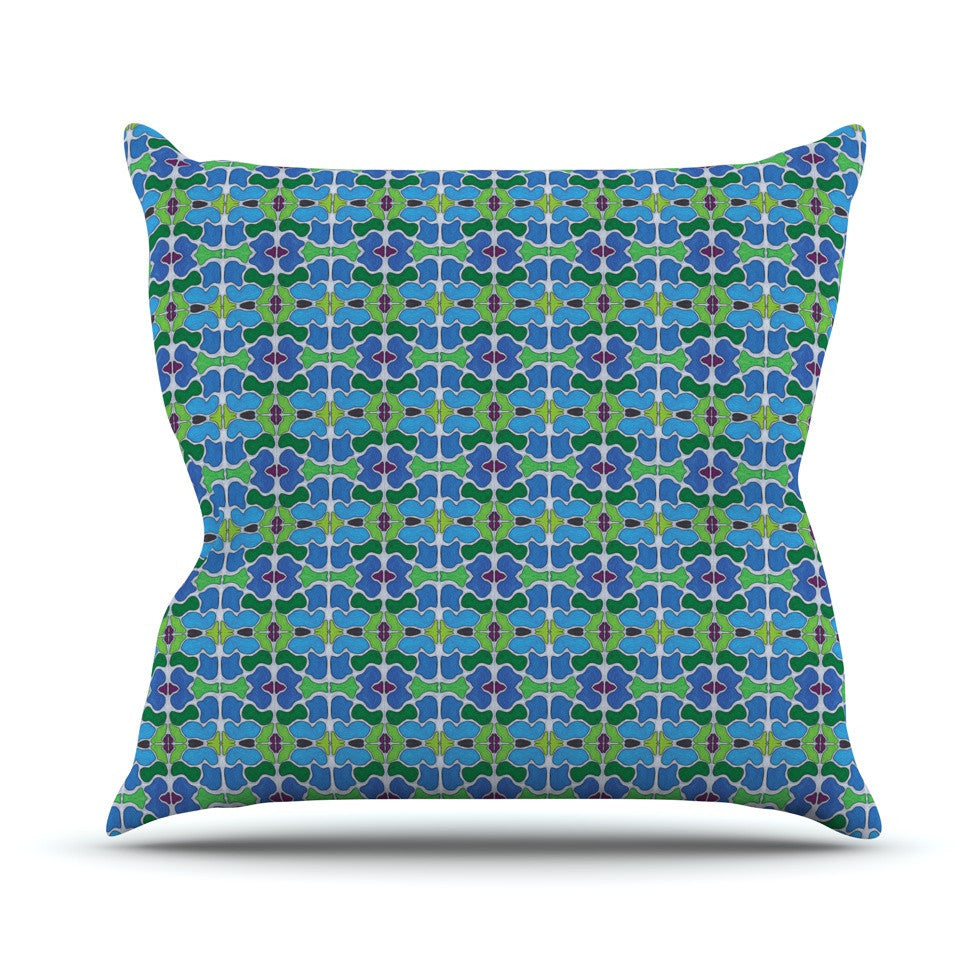 "Empire Ruhl ""Sea Glass"" Outdoor Throw Pillow - KESS InHouse  - 1"