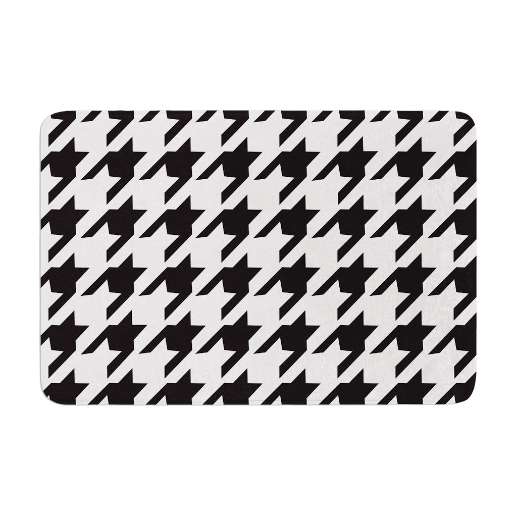 "Empire Ruhl ""Spacey Houndstooth"" Memory Foam Bath Mat - KESS InHouse"