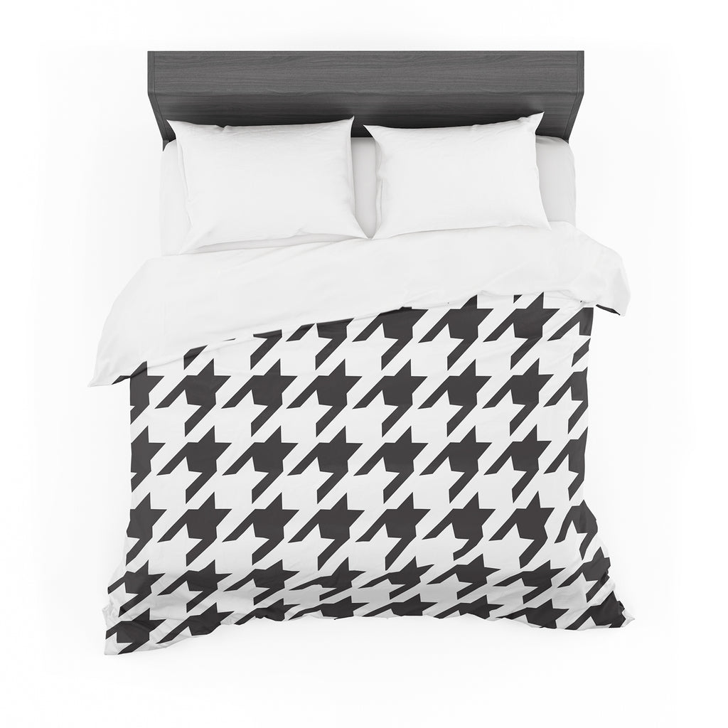 "Empire Ruhl ""Spacey Houndstooth"" Featherweight Duvet Cover"