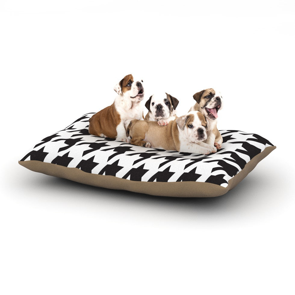 "Empire Ruhl ""Spacey Houndstooth"" Dog Bed - KESS InHouse  - 1"