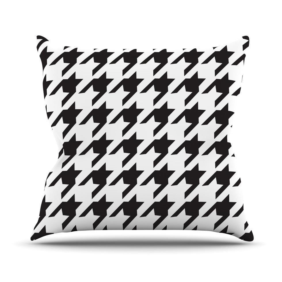 "Empire Ruhl ""Spacey Houndstooth"" Outdoor Throw Pillow - KESS InHouse  - 1"