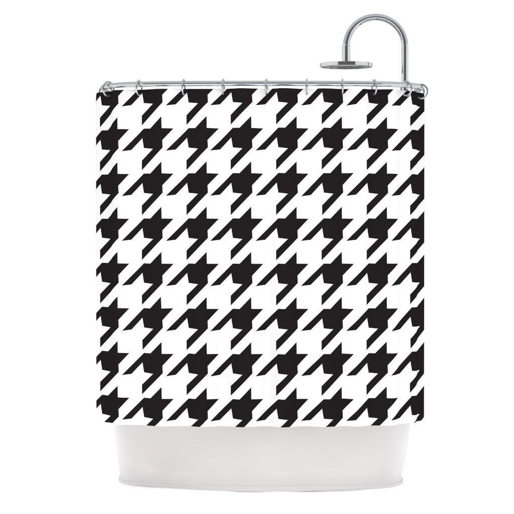 "Empire Ruhl ""Spacey Houndstooth"" Shower Curtain - KESS InHouse"