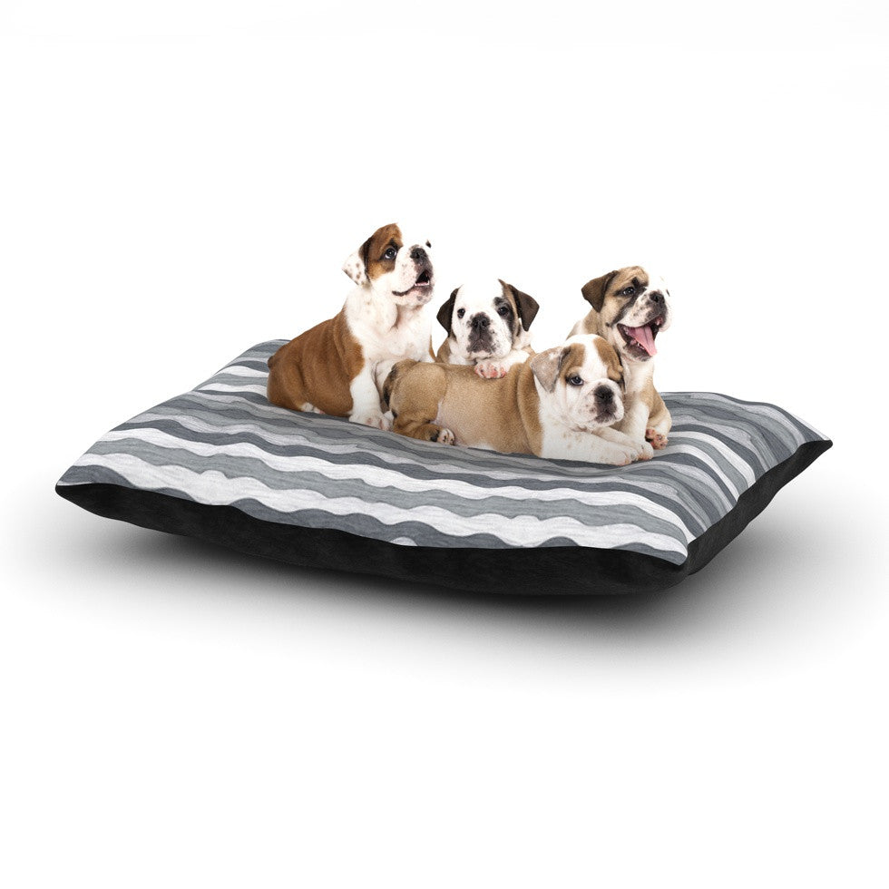 "Empire Ruhl ""51 Shades of Gray"" Gray White Dog Bed - KESS InHouse  - 1"