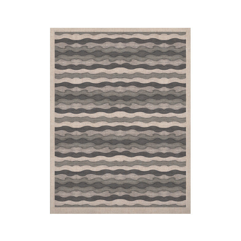 "Empire Ruhl ""51 Shades of Gray"" Gray White KESS Naturals Canvas (Frame not Included) - KESS InHouse  - 1"