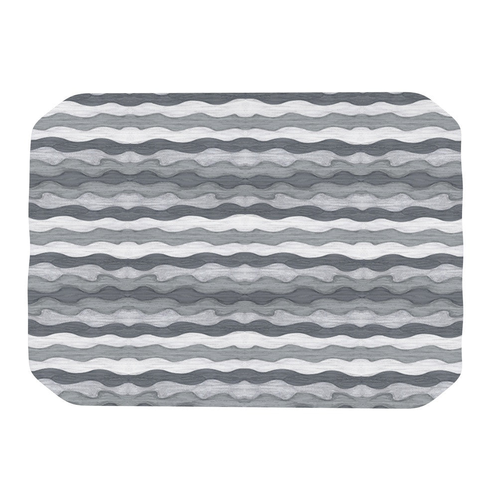 "Empire Ruhl ""51 Shades of Gray"" Gray White Place Mat - KESS InHouse"