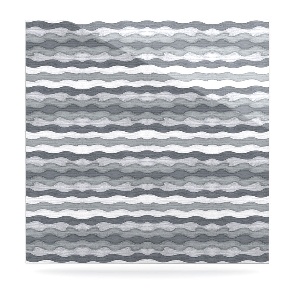 "Empire Ruhl ""51 Shades of Gray"" Gray White Luxe Square Panel - KESS InHouse  - 1"