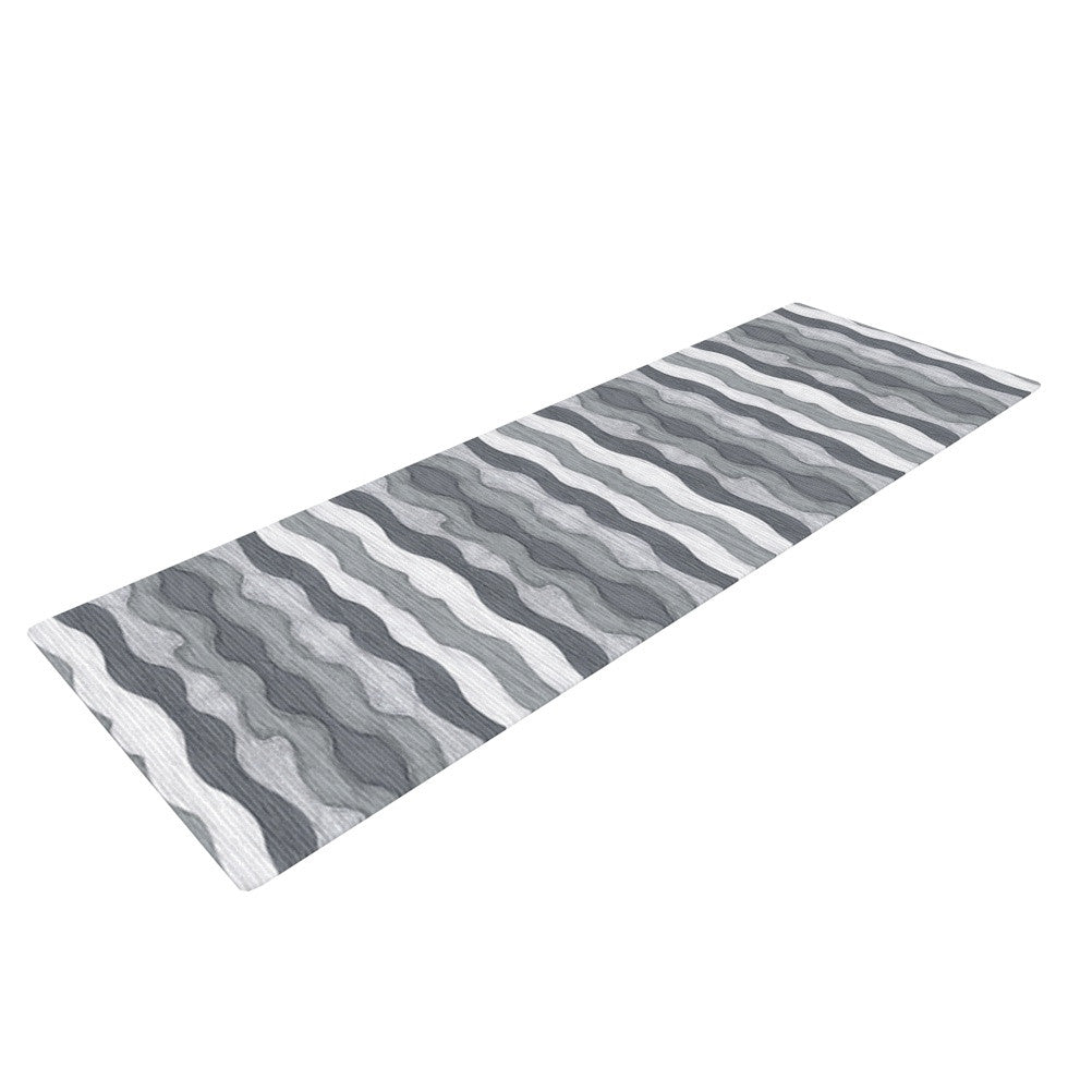 "Empire Ruhl ""51 Shades of Gray"" Gray White Yoga Mat - KESS InHouse  - 1"
