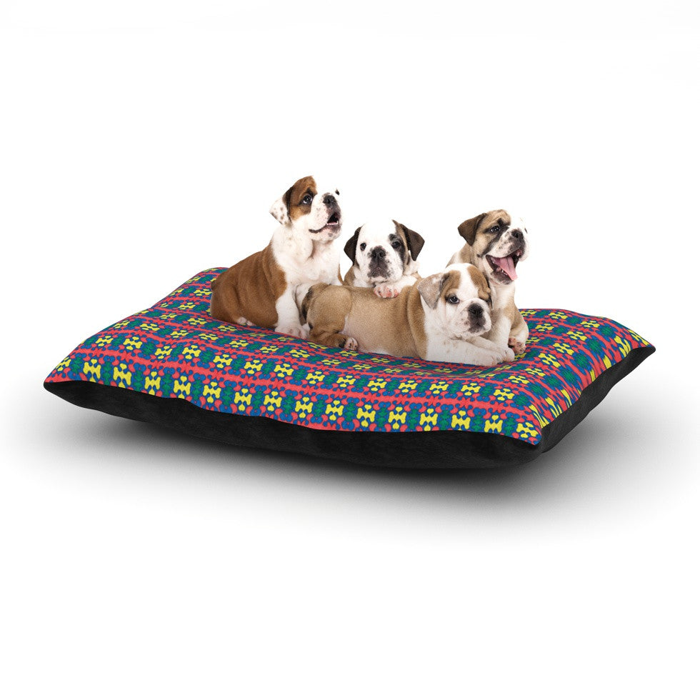 "Empire Ruhl ""Delilah"" Red Pattern Dog Bed - KESS InHouse  - 1"