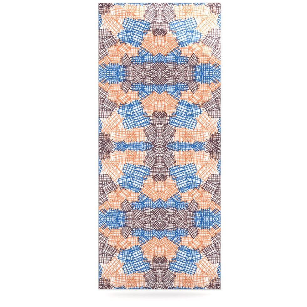 "Empire Ruhl ""Forest"" Orange Blue Luxe Rectangle Panel - KESS InHouse  - 1"