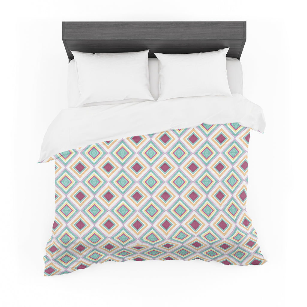 "Empire Ruhl ""Hip Diamonds"" Diamond Pattern Featherweight Duvet Cover"