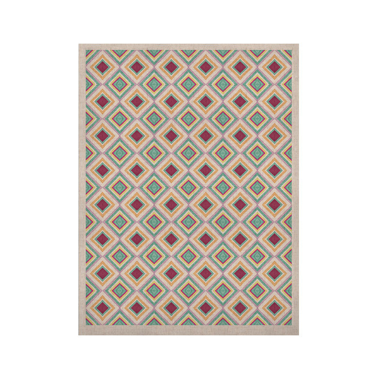 "Empire Ruhl ""Hip Diamonds"" Diamond Pattern KESS Naturals Canvas (Frame not Included) - KESS InHouse  - 1"
