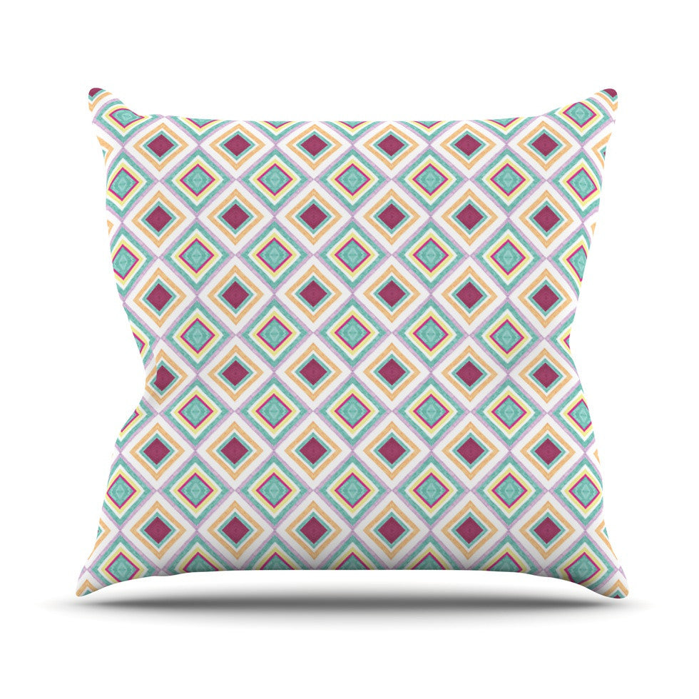 "Empire Ruhl ""Hip Diamonds"" Diamond Pattern Outdoor Throw Pillow - KESS InHouse  - 1"