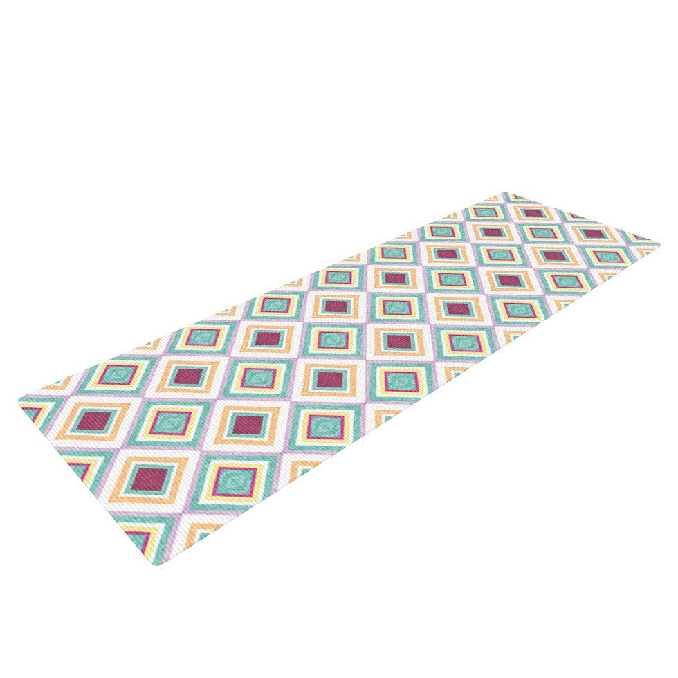 "Empire Ruhl ""Hip Diamonds"" Diamond Pattern Yoga Mat - KESS InHouse  - 1"