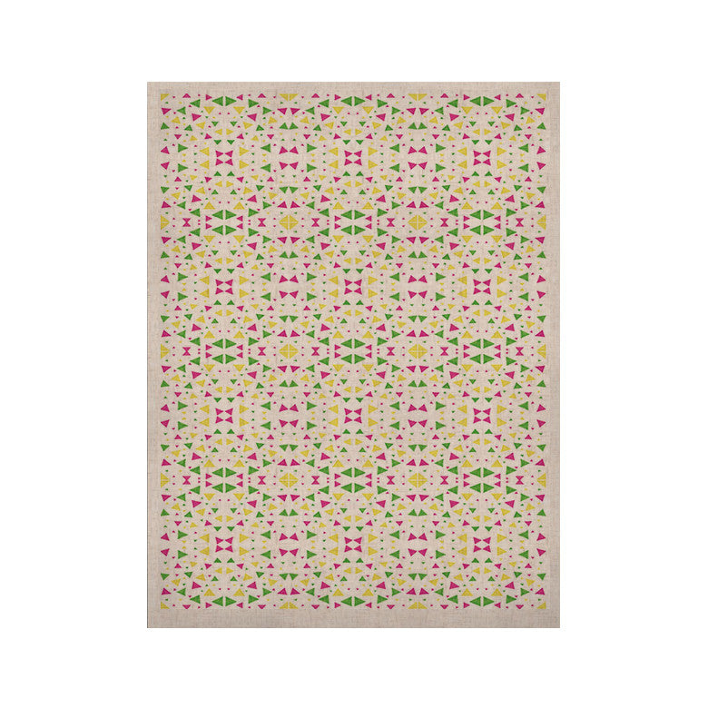 "Empire Ruhl ""Neon Triangles"" Pink Green KESS Naturals Canvas (Frame not Included) - KESS InHouse  - 1"