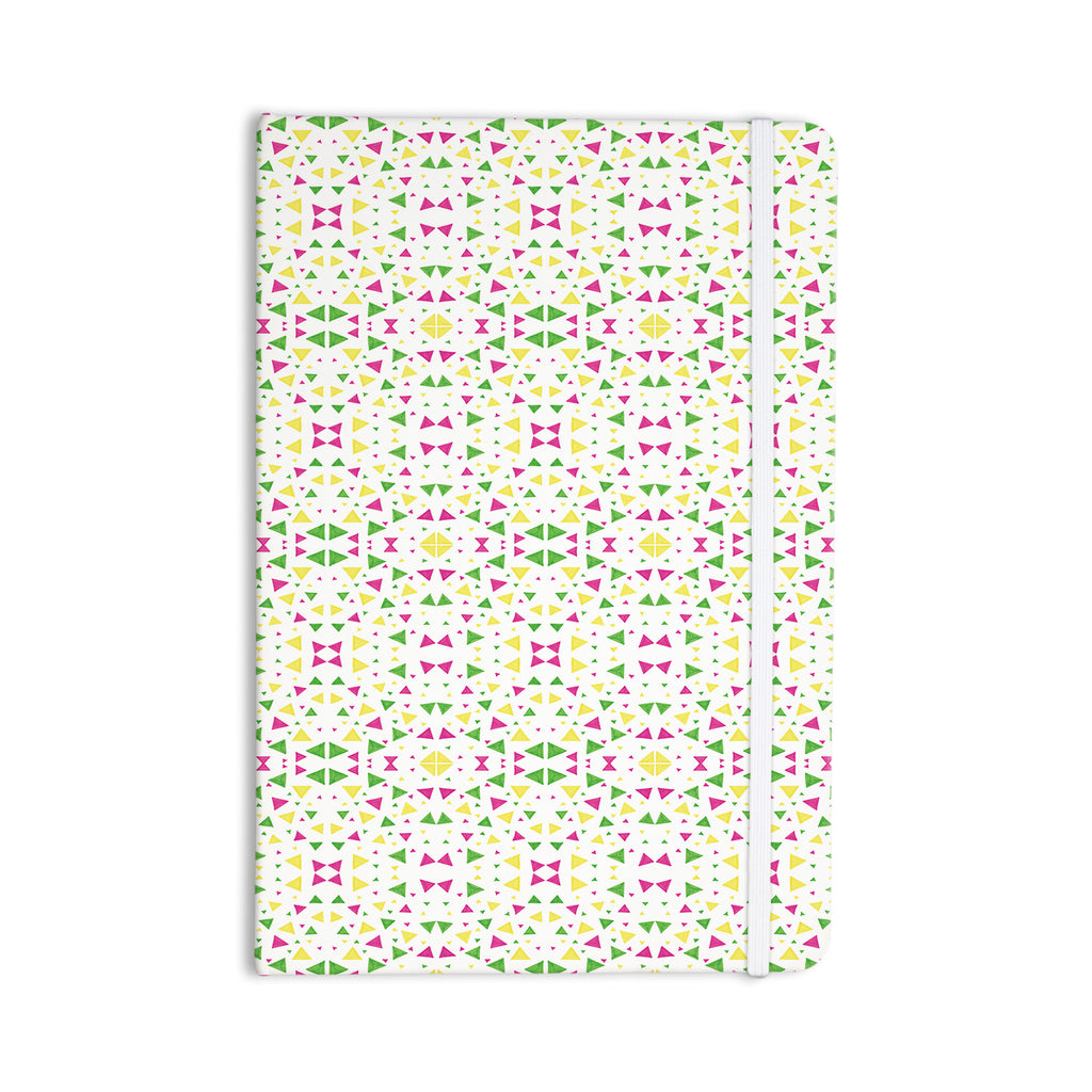 "Empire Ruhl ""Neon Triangles"" Pink Green Everything Notebook - KESS InHouse  - 1"
