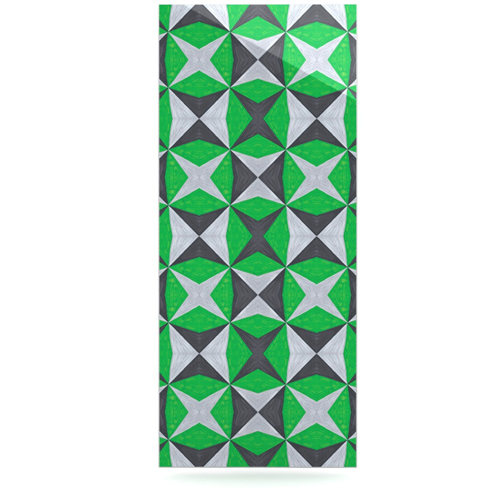 "Empire Ruhl ""Silver and Green Abstract"" Green Black Luxe Rectangle Panel - KESS InHouse  - 1"