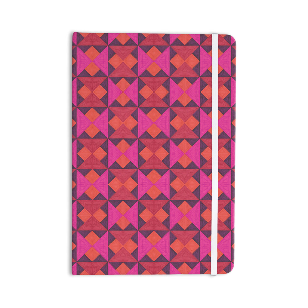 "Empire Ruhl ""A Quilt Pattern"" Pink Red Everything Notebook - KESS InHouse  - 1"