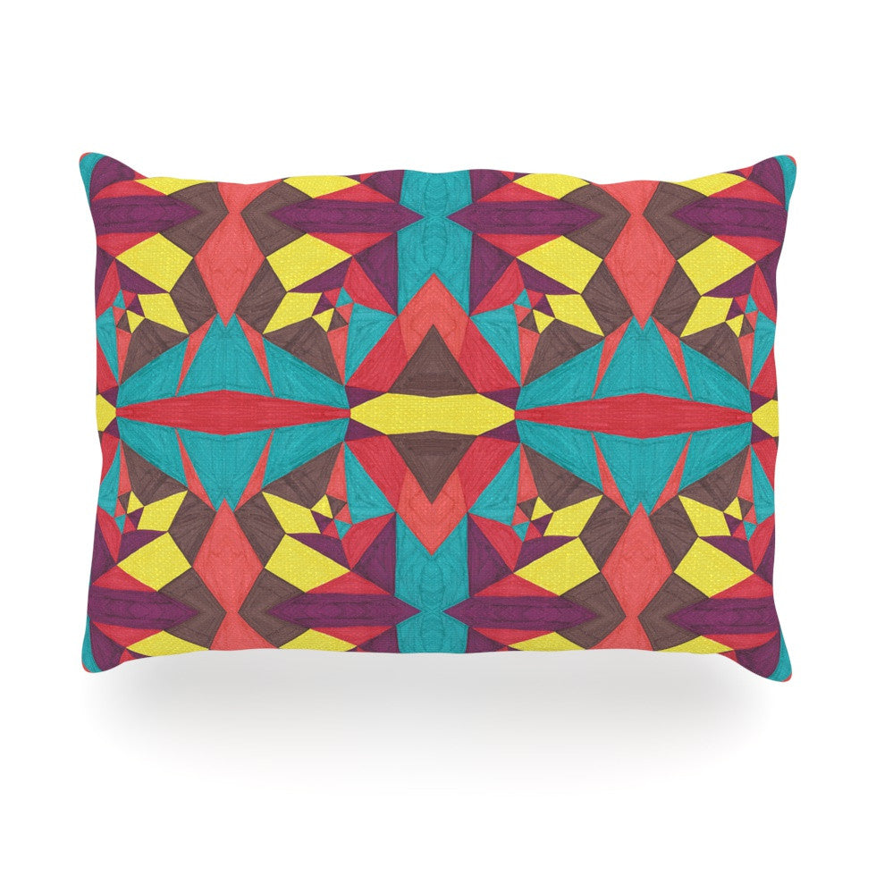 "Empire Ruhl ""Abstract Insects"" Multicolor Oblong Pillow - KESS InHouse"