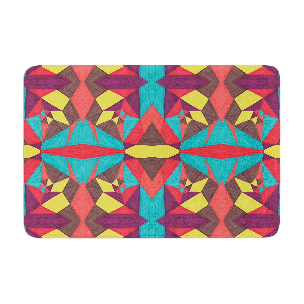 "Empire Ruhl ""Abstract Insects"" Multicolor Memory Foam Bath Mat - KESS InHouse"